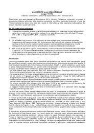 l'assistente alla comunicazione - ISSR - Istituto Statale Sordi di Roma