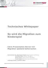 Technisches Whitepaper So wird die Migration zum ... - Visionapp