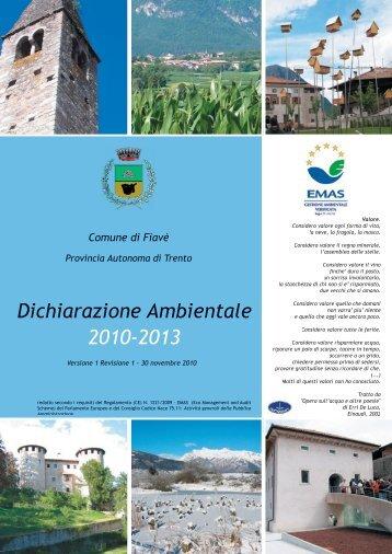 Comune_di_Fiave_dichiarazione_ambientale.pdf - Consorzio dei ...