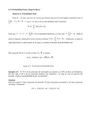 Teorema de Bayes y ejercicios del capitulo 4