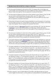 PROBLEMAS DE GENÉTICA PARA 4º DE ESO. - Telefonica.net