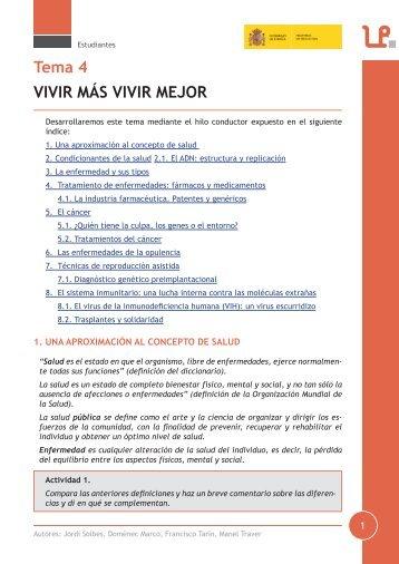 Tema 4 VIVIR MÁS VIVIR MEJOR - LEER-e