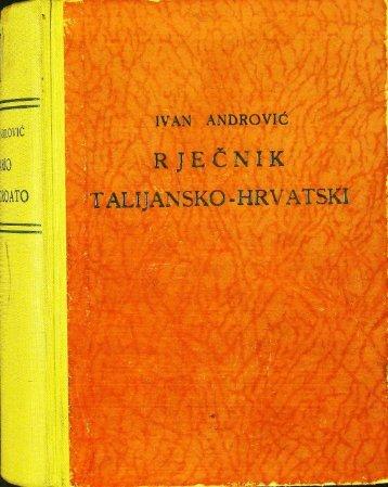 ##9,RJEČNICI,J:TALIJANSKO-HRVATSKI