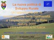 La nuova politica di sviluppo rurale - progetto Life-Natura