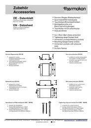Zubehör Accessories DE - Datenblatt EN
