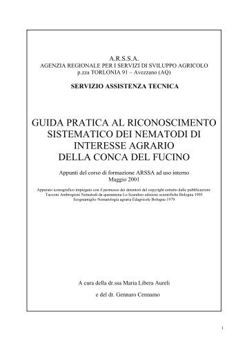 Guida Pratica al Riconoscimento Sistematico dei Nematodi di