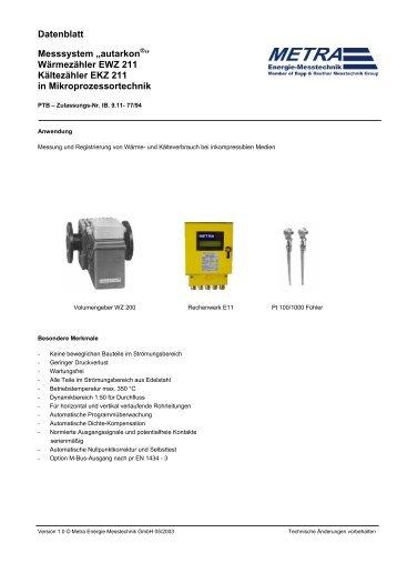 Datenblatt METRA EWZ.. - Nobius Metering, sro