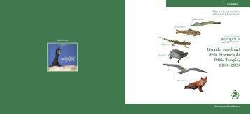 Lista dei vertebrati della Provincia di Olbia Tempio, 1900-2009 (PDF ...