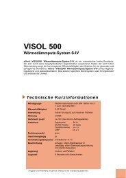 VISOL 500 Wärmedämmputz-System S-IV - Villerit