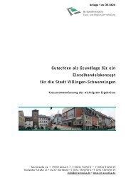 Zusammenfassung EHK Villingen Schwenningen