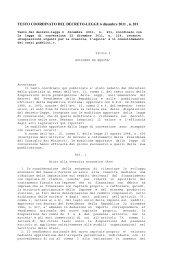 Testo coordinato - Ministero del lavoro, salute e politiche sociali