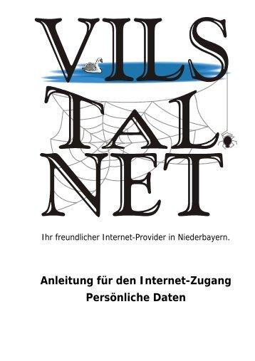 Zugangsanleitung für Modem oder ISDN als PDF-Datei ... - Vilstal.Net
