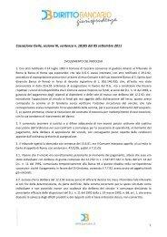 Cassazione Civile, sezione III, sentenza n. 18105 ... - Diritto Bancario