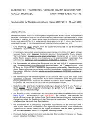 Rundschreiben zur Saison 2009-2010 (Kreisligen) - Vilstal.Net