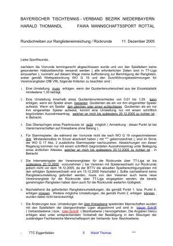 BAYERISCHER TISCHTENNIS - VERBAND - Vilstal.Net