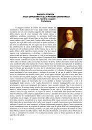 1 BARUCH SPINOZA ETICA DIMOSTRATA ... - Istituto Marco Belli