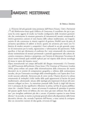 INVARIANTI MEDITERRANEE - La scuola di Pitagora editrice