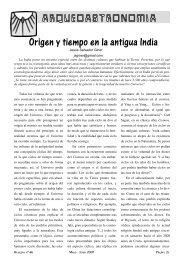 Origen y tiempo en la antigua India - AstroSafor