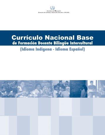 Currículo Nacional Base de Formación Docente ... - Portal Educativo