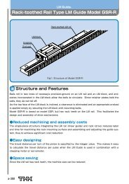 Rack-toothed Rail Type LM Guide Model GSR-R - Linear Bearings