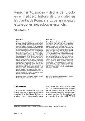 Renacimiento, apogeo y declive de Tuscolo en el medioevo: historia ...