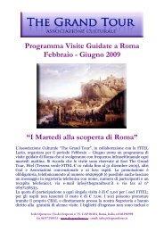 Programma Visite Guidate a Roma Febbraio - Giugno ... - FITeL Lazio