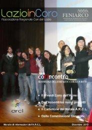 Lazio in Coro Dicembre 2010 - Associazione Regionale Cori del Lazio