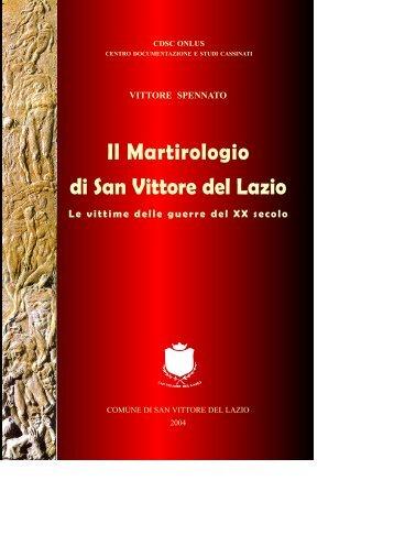 Il Martirologio di San Vittore del Lazio Le vittime ... - Studicassinati.It