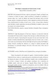 Hierofania e cosmogonia em Grande Sertão: Veredas