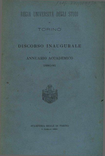 REGIA UNIVERSITÀ DEGLI STUDI - Università degli Studi di Torino