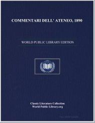 COMMENTARI DELL' ATENEO, 1890 - World eBook Library
