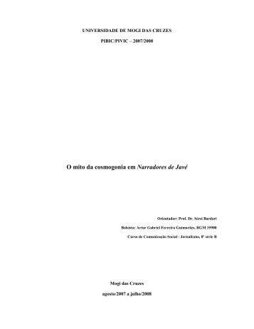 O mito da cosmogonia em Narradores de Javé - Sérsi Bardari