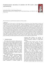 Caratterizzazione meccanica di murature del XX secolo: alcune ...