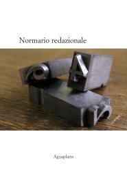 Normario redazionale - Aguaplano