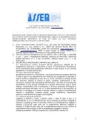 bando gara ristrutturazione centrale idroelettrica del ... - assem spa