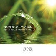 Nachhaltige Schönheit. - Vitalia Reformhaus