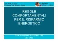 RISPARMIO ENERGETICO - Consigli ed accorgimenti - Provincia di ...