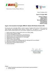 Convocazione CD AMIS 27ott2012 - Associazione Italiana Master ...
