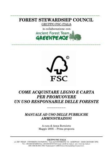 Manuale appalti [ .pdf ] - Greenpeace Italia