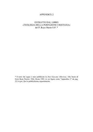 TEOLOGIA DELLA PERFEZIONE CRISTIANA - Alberione.Org
