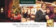Adventszeit-Arrangement - bei den Günnewig Hotels und Restaurants
