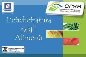 Etichettatura degli Alimenti - ORSA Osservatorio Regionale ...
