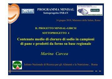 Marina Carcea - Ministero della Salute