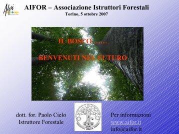 Il bosco… benvenuti nel futuro - Regione Piemonte