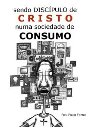 sEnDo DisCíPulo DE CRisto nuMa soCiEDaDE DE ConsuMo