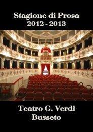 Stagione di Prosa Teatro G. Verdi Busseto - Bassa Parmense