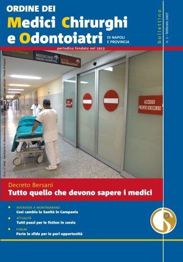Bollettino Marzo 2007 - Ordine dei Medici Chirurghi e degli ...