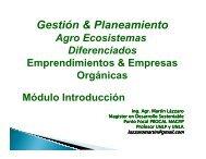 (Gestión y planeamiento de la empresa orgánica). - Alimentos ...