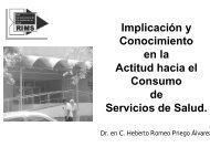 Implicación y Conocimiento en la Actitud hacia el Consumo de ...