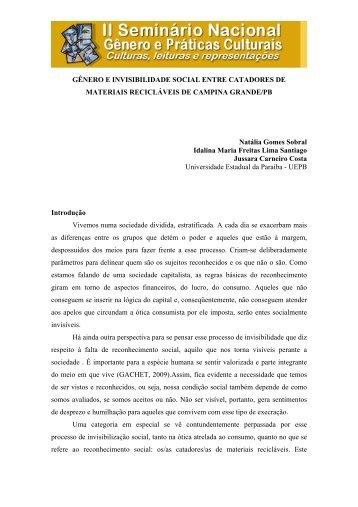 Invisibilidade de gênero - Itaporanga.net